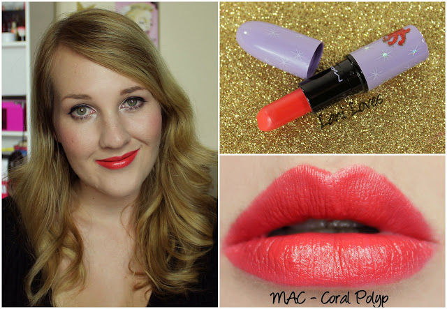 MAC Coral Polyp lipstick swatch