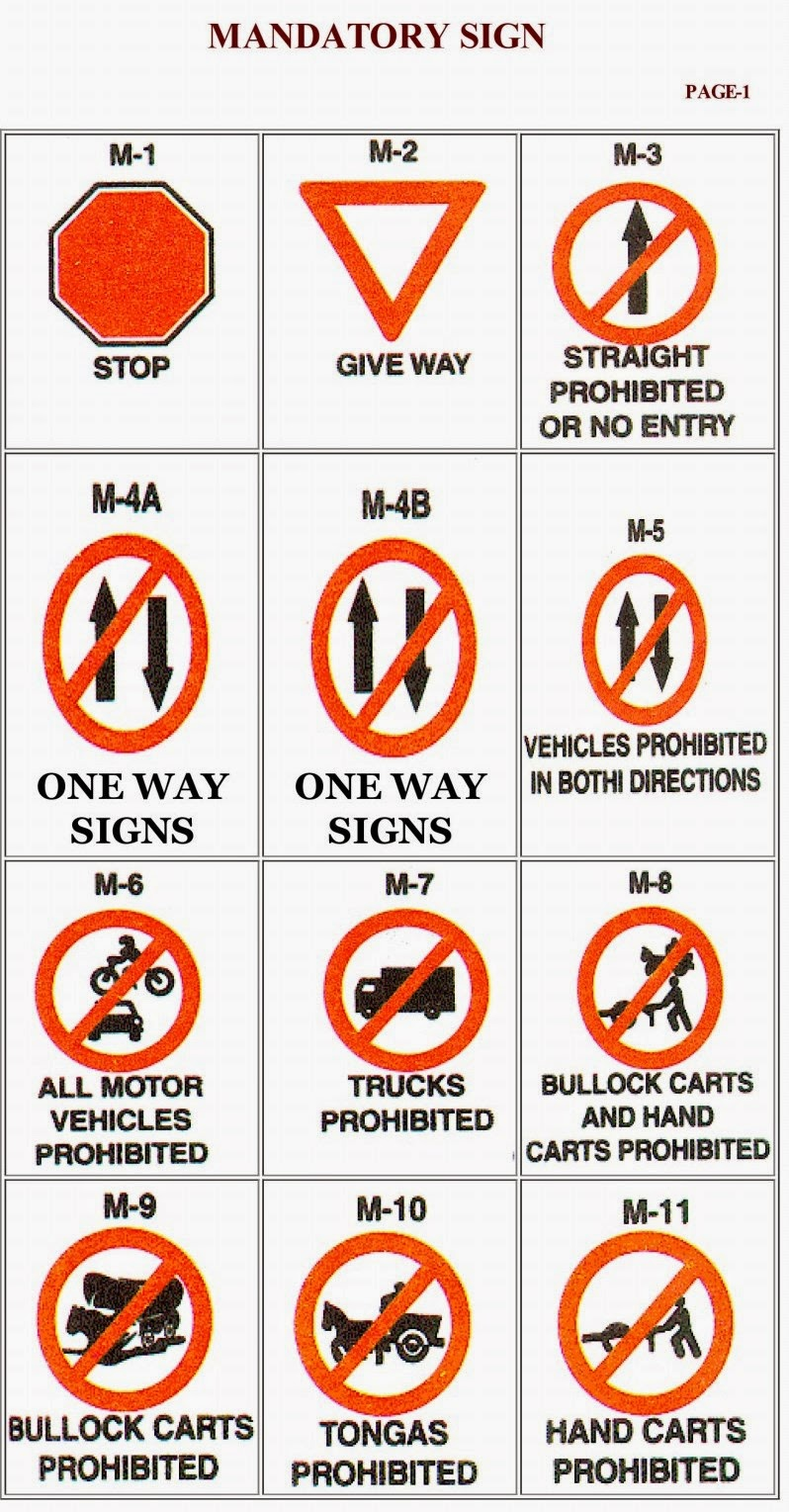 √ Traffic Signal Chart In Bengali Pdf | Road Signs Chart
