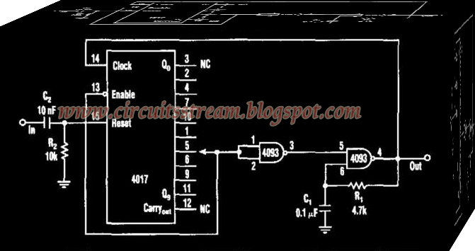 Simple Pulse Train Circuit Diagram