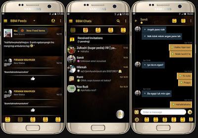 BBM Mod Black Gold Simple V3.1.0.13 Apk