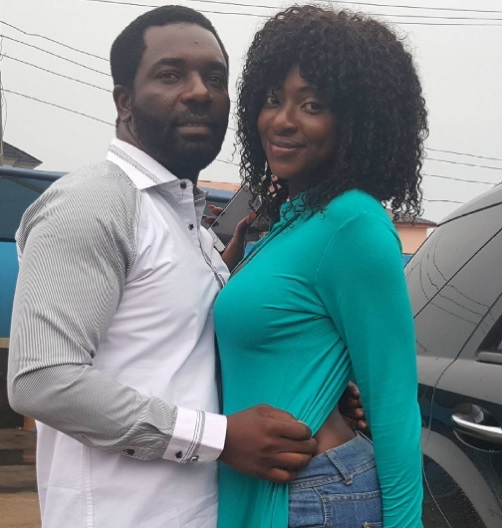 Emeka Amakeze & Yvonne Jegede Strike Sexy Pose On Movie Set