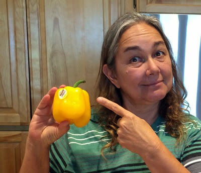 Oma loves the taste and color of the yellow bell pepper. P