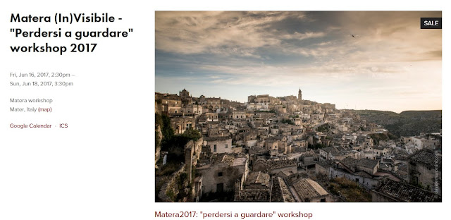 Workshop Matera Davide Marcesini 16/18 giugno 2017