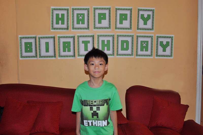 Ethan Ryus Minecraft Themed 8th Birthday Party