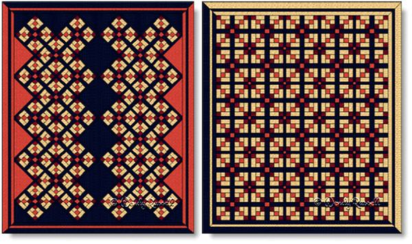 Quilts designed using the STONE TILES quilt block - image © Wendy Russell