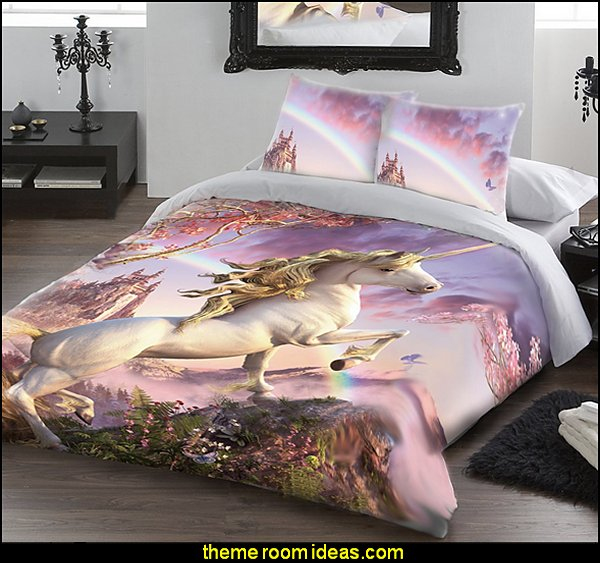 Decorating theme bedrooms maries manor unicorn bedding unicorn decor unicorn duvet for Unicorn bedroom theme