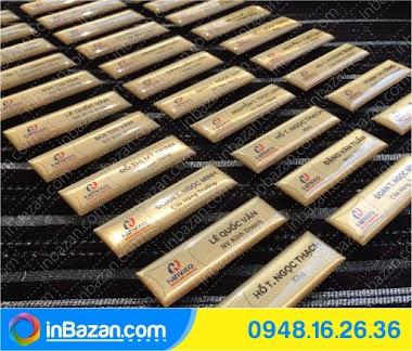 Thẻ tên nhân viên | inbazan.com