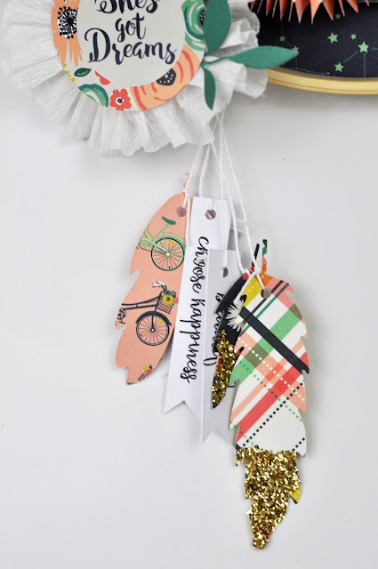 Just Be You Dream Catcher by www.jengallacher.com. #dreamcatcher #papercraft #echoparkpaper