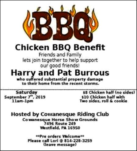 9-7 Chicken BBQ Benefit, Cowanesque