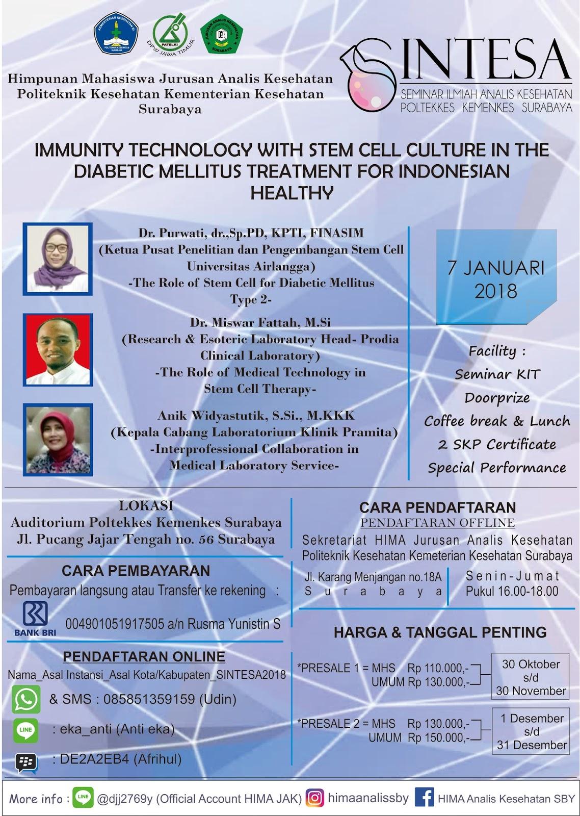 Seminar Ilmiah Analis Kesehatan Poltekkes Kemenkes