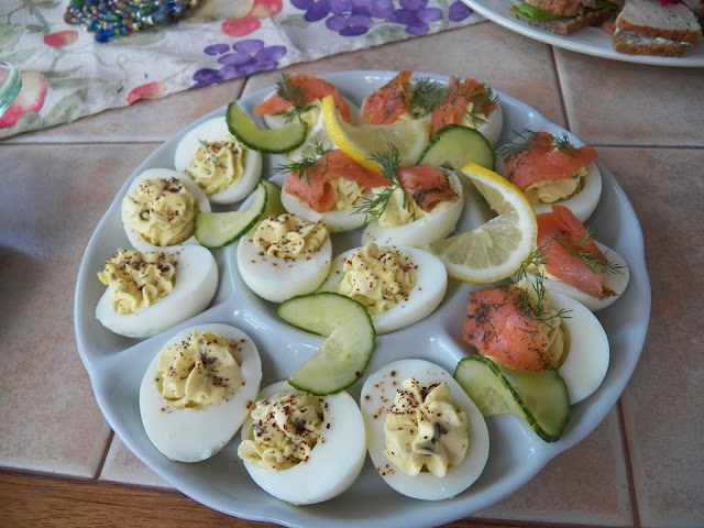 Lemon Caper Deviled Eggs with and without Gravlax