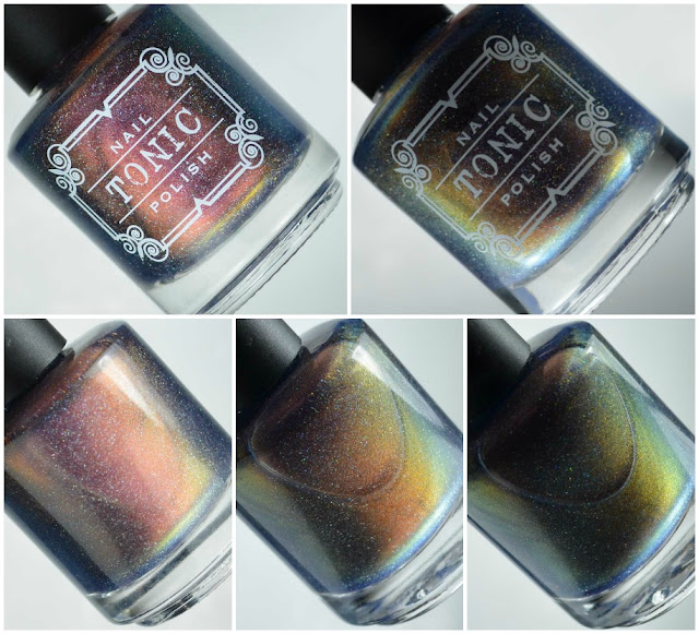 multi chrome nail polish bottle