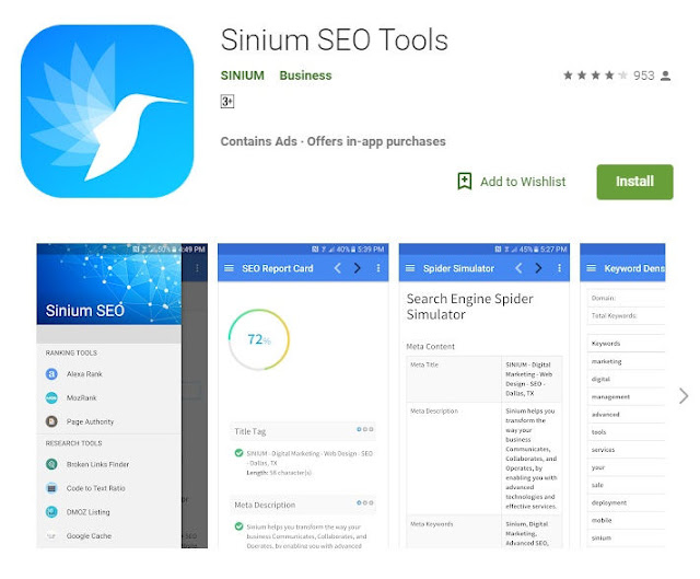 Sinium App For Bloggers on Google Play