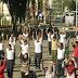 Prajurit Lanal Korabaru Latihan Tari Gemu Famire Bersama Kodim 1004 Kotabaru