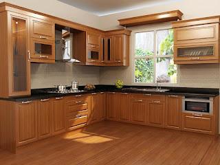 Tủ bếp gỗ xoan đào HP11