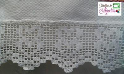 Barrado de crochê para toalhas