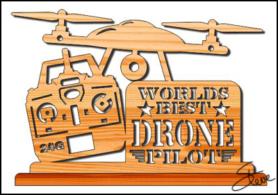 Scrollsaw Workshop: World's Best Drone Pilot Scroll Saw Pattern
