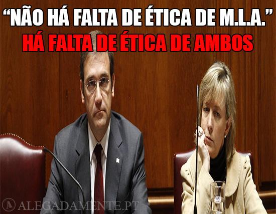 """Alegadamente: Imagem de Maria Luís Albuquerque e Pedro passos Coelho – """"Não há falta de ética de M.L.A."""", há falta de ética de Ambos!!"""