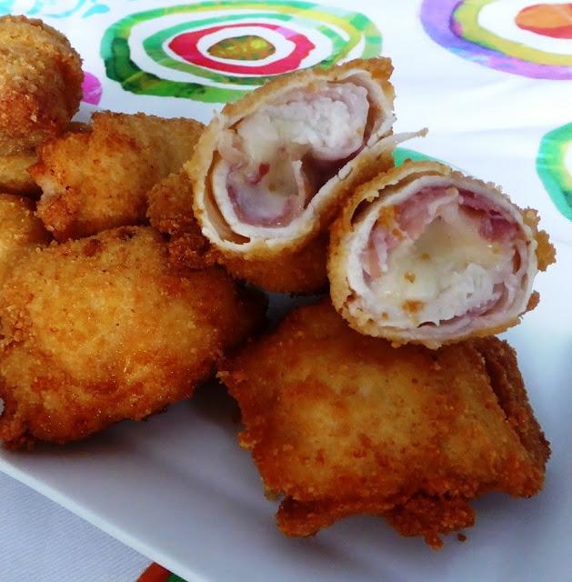 involtini di pollo fritti