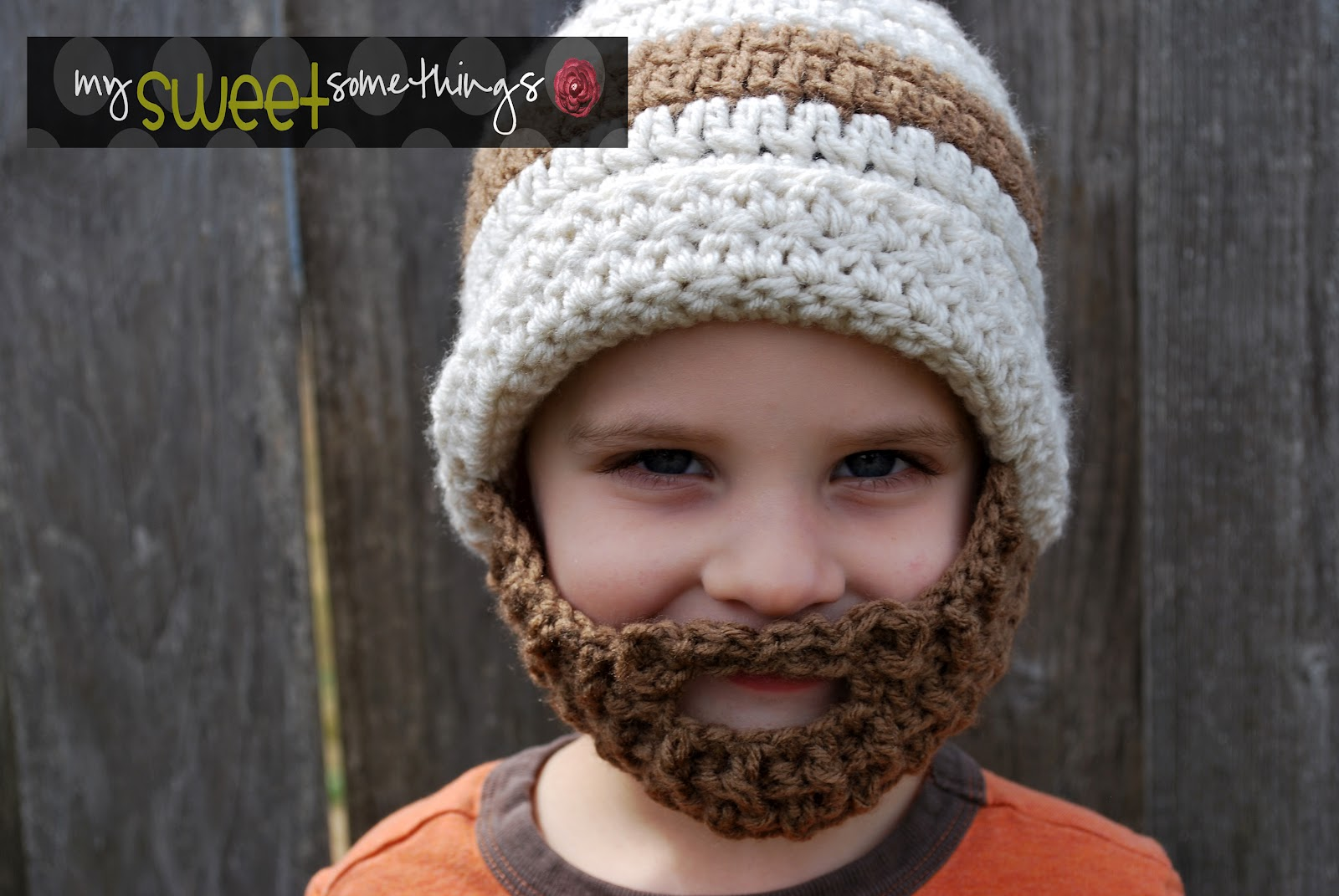 8f5d353e2b2 My Sweet Somethings  Bearded Hat for Kids!