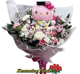 Handbouquet Bunga Segar + Boneka Wisuda Packing Premium<price>Rp.200.000 </price> <code>SKU-B1</code><br>Kemuning Florist Malang