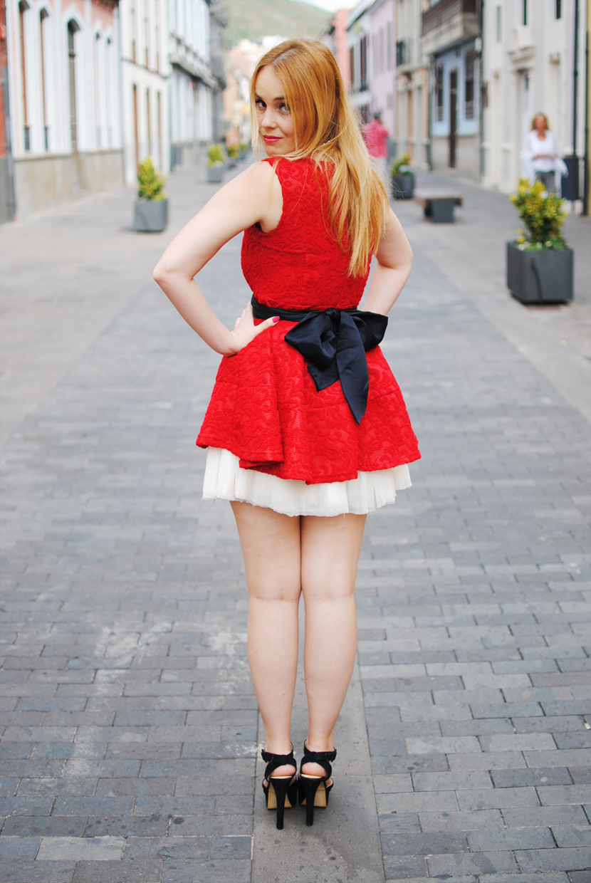 nery hdez, tideshe bloggers, red dress, tutu, born pretty store