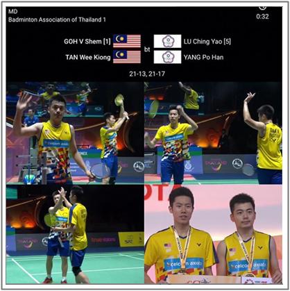 Badminton : Goh V Shem dan Tan Wee Kiong Juara Thailand Masters 2019