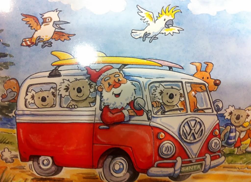 Carte Noel Australie.Vis Ma Vie En Australie Cartes De Noel Australiennes
