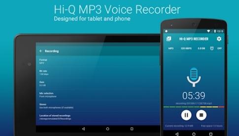 Download Aplikasi Android Perekam Suara Terbaik Gratis Format Rekaman MP3 (Hi-Q MP3 Voice Recorder)