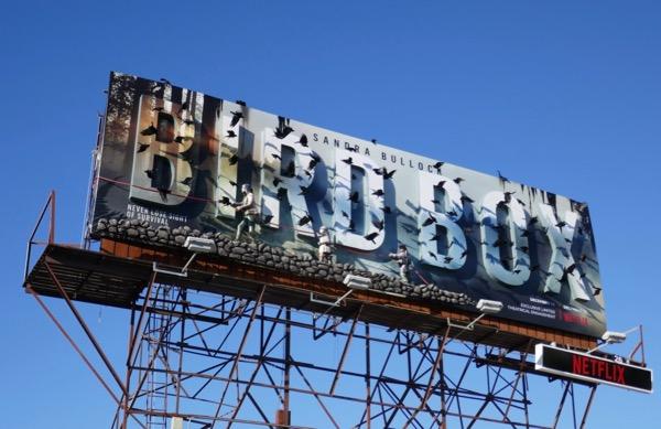 Bird Box movie special 3D installation billboard