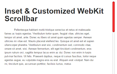 How To Replace Default Blogger Scrollbar With Custom WebKit Scrollbar