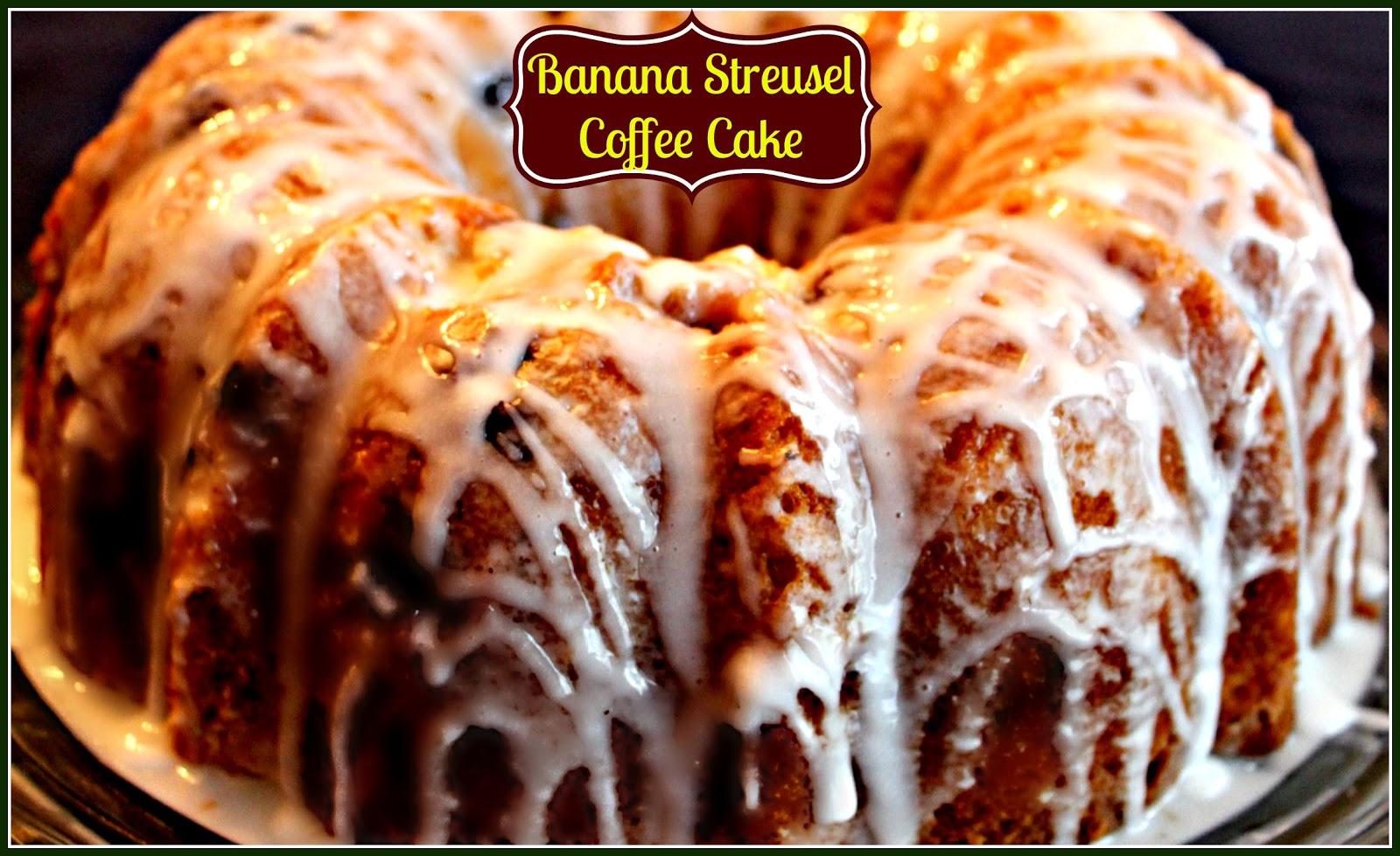 Sweet Tea And Cornbread Banana Streusel Coffee Cake