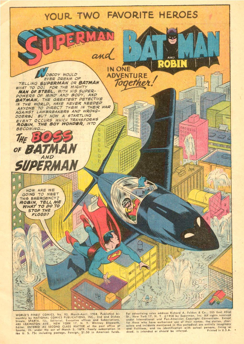 Read online World's Finest Comics comic -  Issue #93 - 3