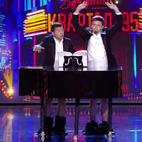 Zelensky, the President of Ukraine, plays the piano with his dick