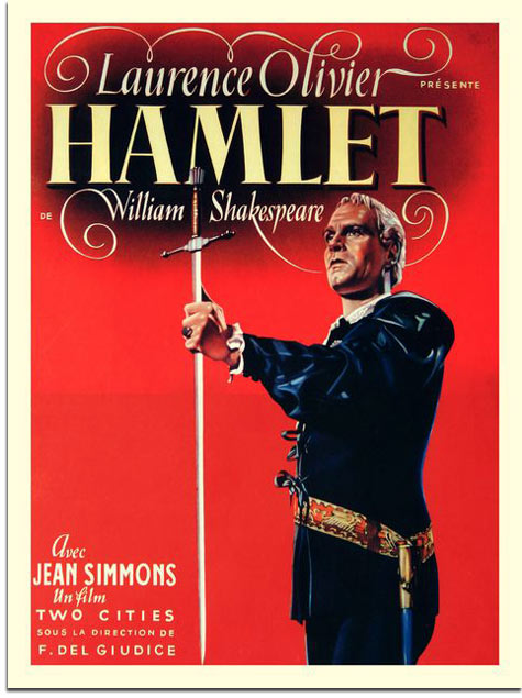 hamlet cites Hamlet is a 1948 british film adaptation of william shakespeare's play of the same name j arthur rank-two cities film (laurence olivier, producer) nomination.