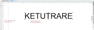 text tool corel draw ketutrare