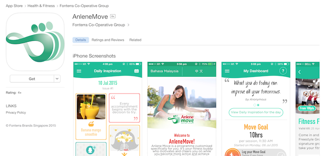 Download the AnleneMove app from the iOS store, or Google Apple Play Store