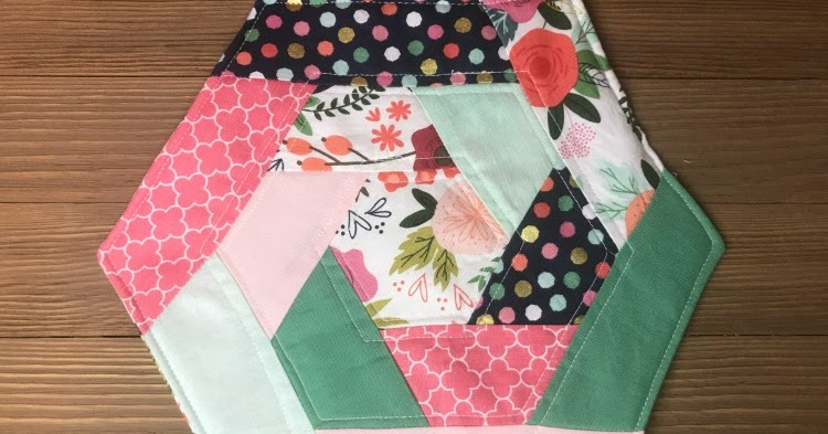 5 Little Monsters Quilted Hexagon Potholder