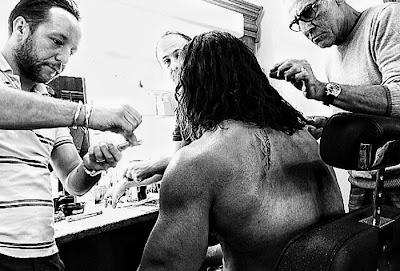 Dwayne Johnson La Machiaj Pentru Filmul Hercules