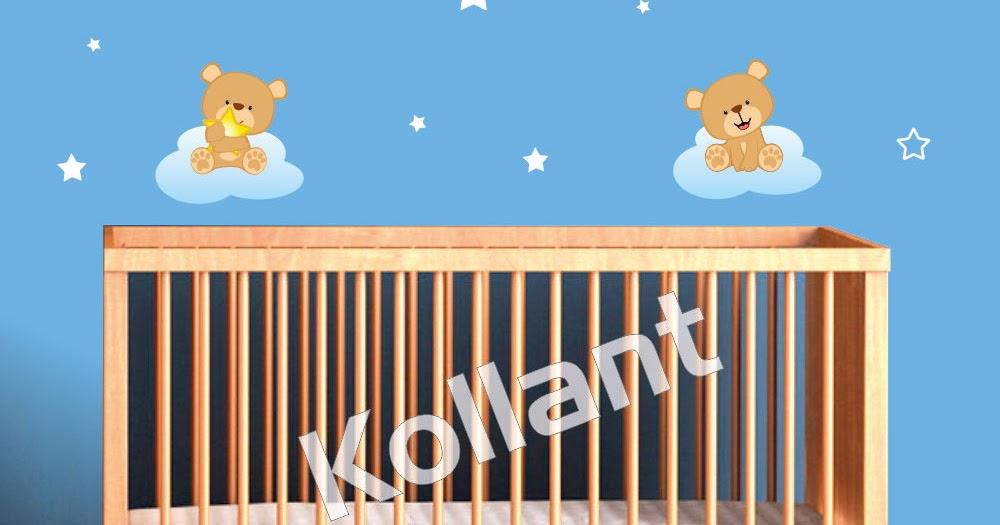 Adesivo de Parede Urso – O quarto do seu bebê lindo e  ~ Adesivos De Parede Para Quarto De Bebe Urso