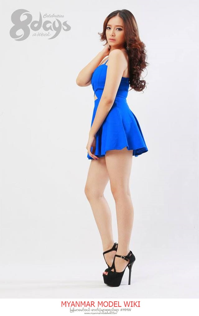 Su Myat Noe Kyaw In Style With Blue Dress 8 Days Journal Photoshoot