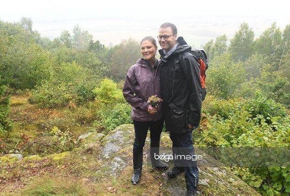 Crown Princess Victoria and Prince Daniel visited Västergötland. Crown Princess Victoria wore By Malene Birger Blouse