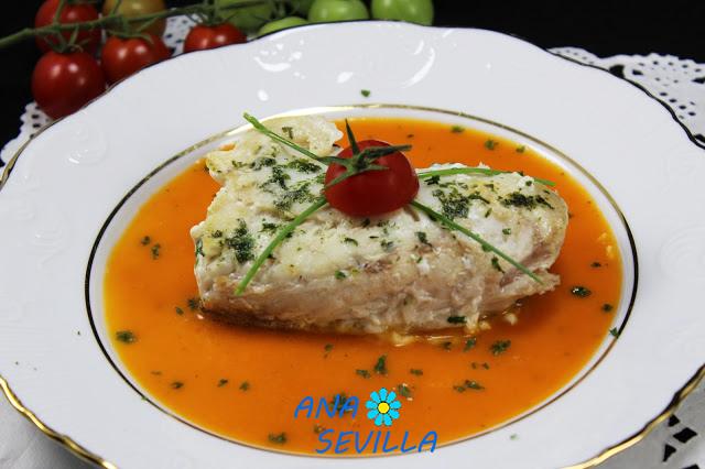 Merluza en salsa de almendras olla GM Ana Sevilla