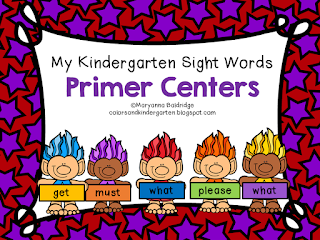 https://www.teacherspayteachers.com/Product/My-Kindergarten-Sight-Words-Primer-Centers-2928132