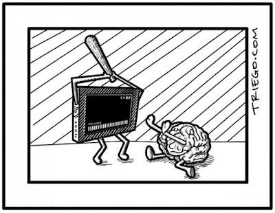 Meme de humor sobre el poder de la televisión