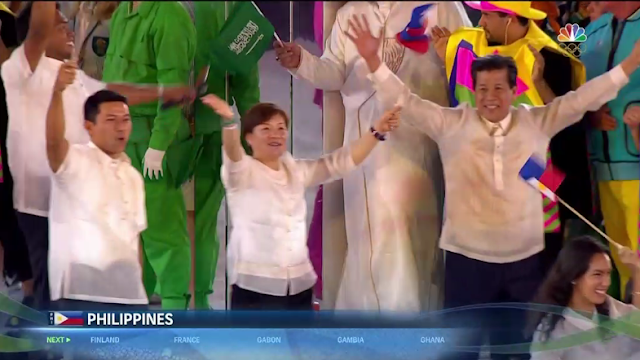 The Philippines delegation athletes Rio 2016 Olympics Opening Ceremony