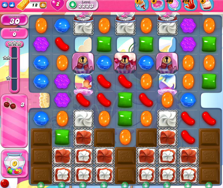 Candy Crush Saga level 2223