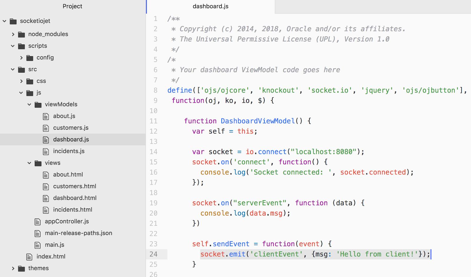 Andrej Baranovskij Blog: Socket IO Integration with Oracle JET