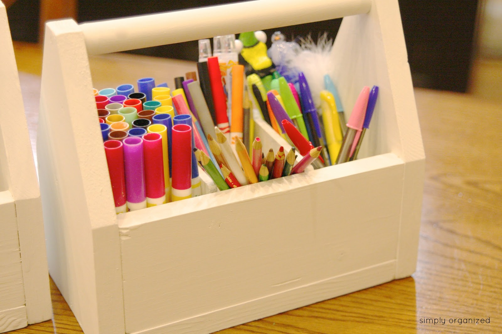 Diy Pottery Barn Kids Art Caddy Simply Organized