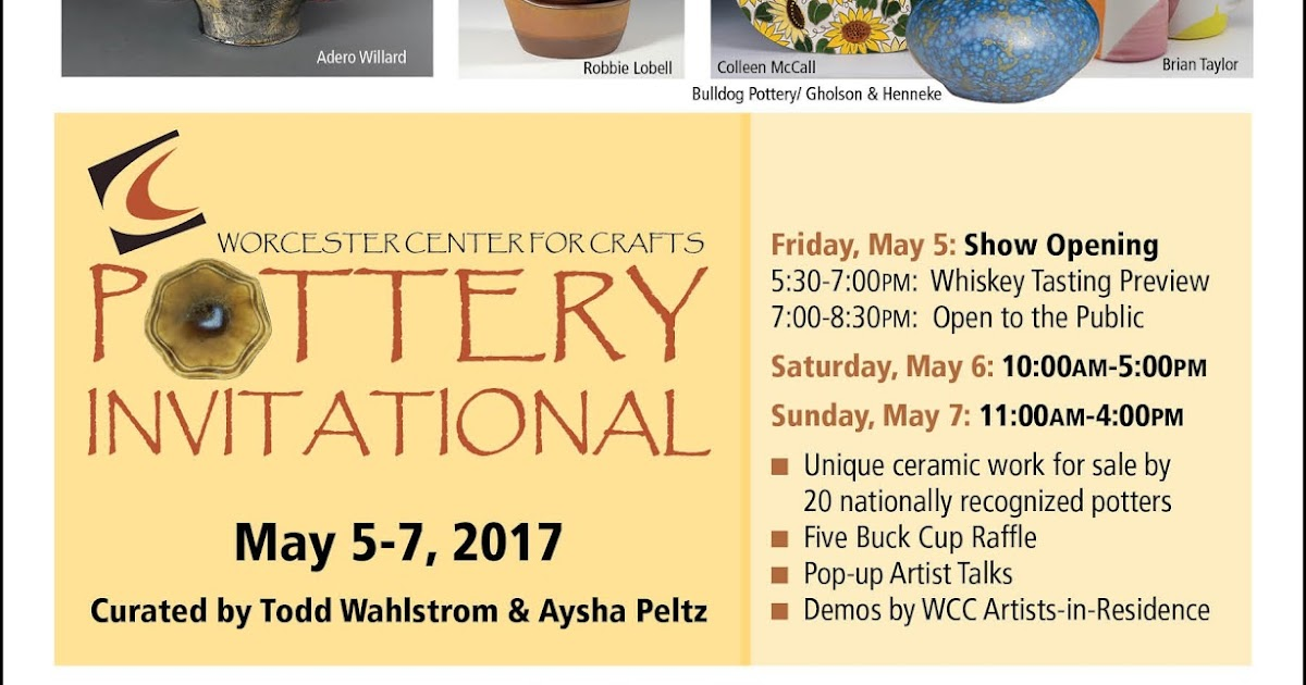 Worcester Center for Crafts Pottery Invitational this weekend